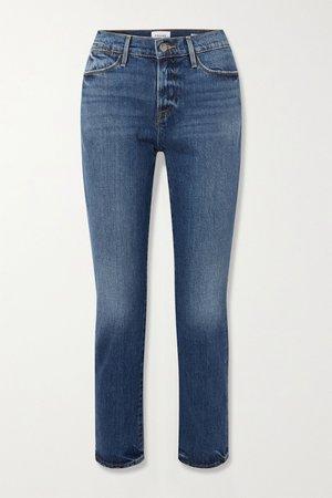 Mid denim Le High straight-leg jeans