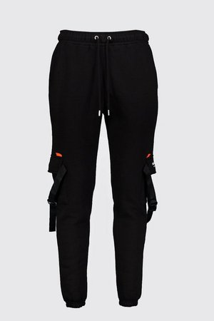 MAN Official Print Jersey Cargo Joggers | Boohoo