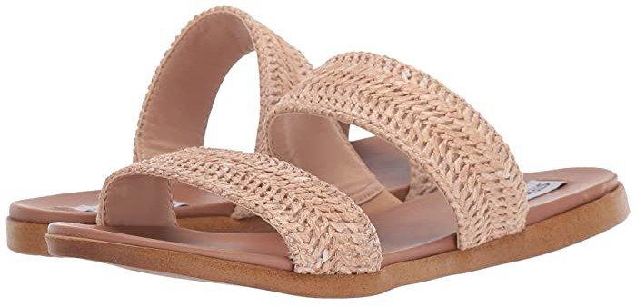 Dual Flat Sandal (Natural Raffia) Women's Sandals