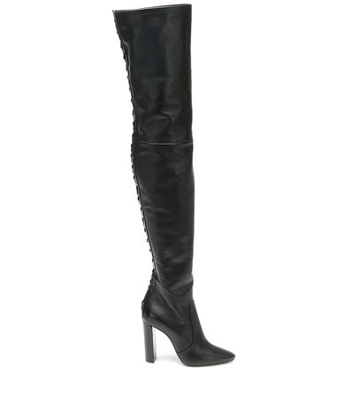 Saint Laurent, 76 Leather Over-The-Knee Boots