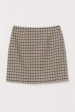 Short Skirt - Beige