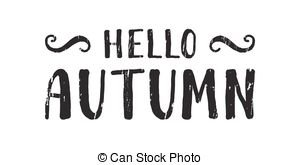 Black handwritten inscription autumn on a white background.