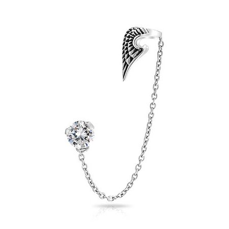 silver wing earing