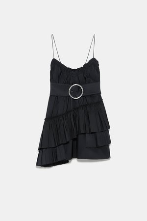 BELTED MINI DRESS - BASICS-WOMAN | ZARA United States black