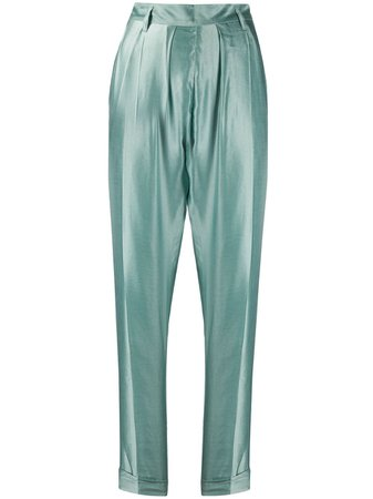 Ann Demeulemeester High Waisted Tapered Trousers - Farfetch