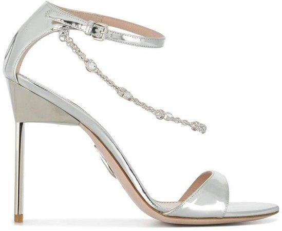 crystal chain stiletto sandals