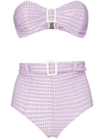 Lisa Marie Fernandez buckle-detailed Bandeau Bikini - Farfetch