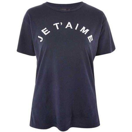 Topshop Petite 'Je T'aime' Slogan T-Shirt