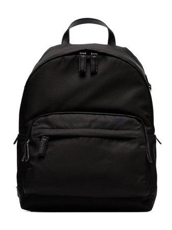 Prada Classic Logo Plaque Backpack 2VZ066VHOY973 Black | Farfetch