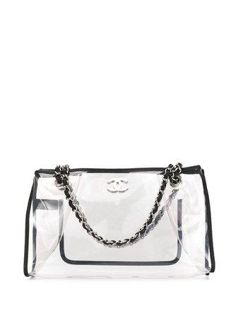 Chanel Pre-Owned Tote Con Doble Cadena y Motivo CC 2007 - Farfetch