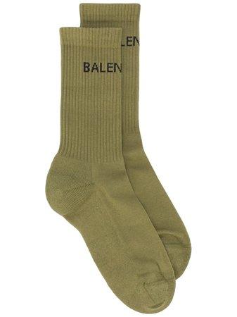 Balenciaga Носки в Рубчик с Логотипом - Farfetch