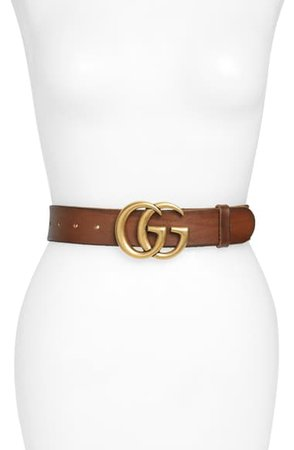 Gucci GG Logo Buckle Leather Belt | Nordstrom