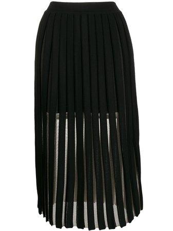 Balmain Pleated Midi Skirt - Farfetch