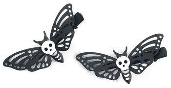 Lot De Barrettes Death's Head Moth | Blackheart Barrette | EMP