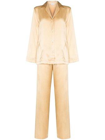 La Perla button-up Silk Pyjama Set - Farfetch