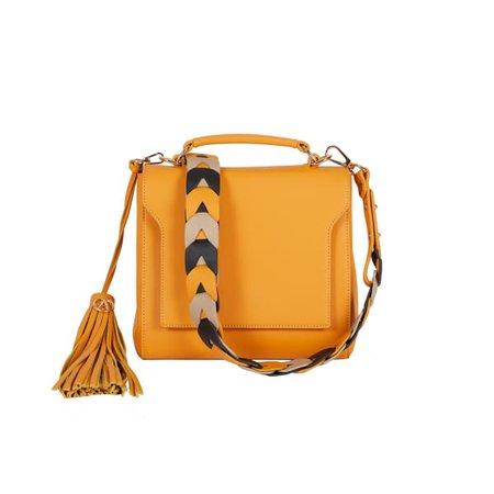 Brooklyn Leather Shoulder Bag - Mustard Yellow   ALLBYB   Wolf & Badger