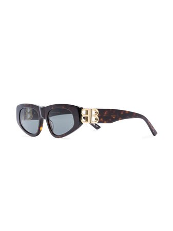 Balenciaga Eyewear Tortoiseshell Cat Eye Sunglasses - Farfetch
