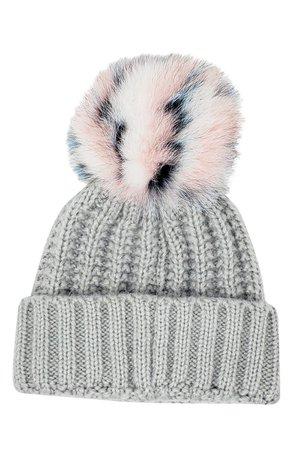 Kyi Kyi Beanie with Genuine Fox Fur Pom | Nordstrom