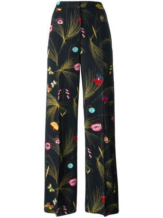Shop multicolour Fendi floral print trousers with Express Delivery - Farfetch