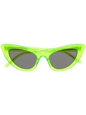 Saint Laurent Eyewear New Wave Sl 213 Lily Sunglasses 508653Y9901 Green | Farfetch