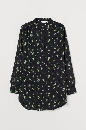 Patterned Blouse - Black