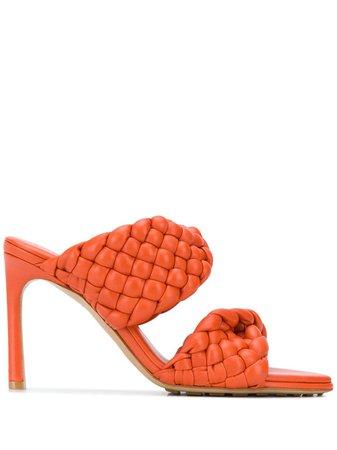 Bottega Veneta woven-strap slip-on Sandals - Farfetch
