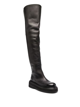 Marsèll over-the-knee leather boots - FARFETCH