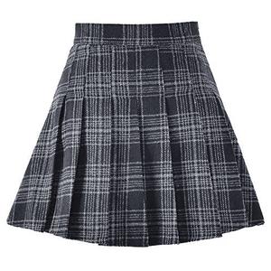 Black and Gray School Skirt