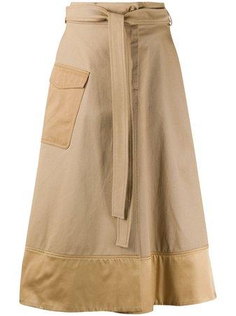 Pinko tie-waist A-line Skirt - Farfetch
