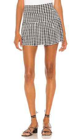 REVOLVE black and white mini skirt