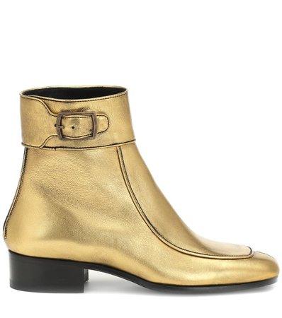 Miles Leather Ankle Boots | Saint Laurent - mytheresa