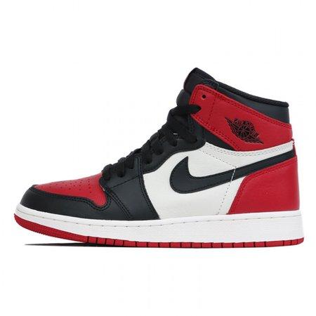 red black & white jordans