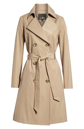Sam Edelman Double Breasted Trench Coat beige