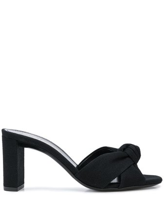 Saint Laurent Knotted Detail 80Mm Mules 6201281P200 Black | Farfetch