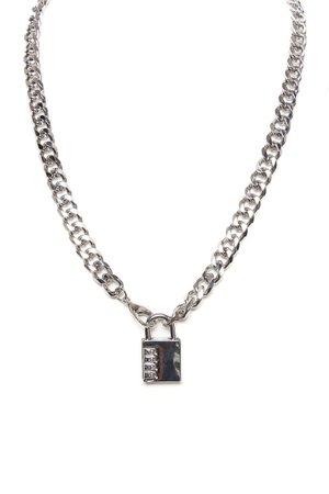 Can't Lock Me Down Chain - Silver, Mens Jewelry | Fashion Nova