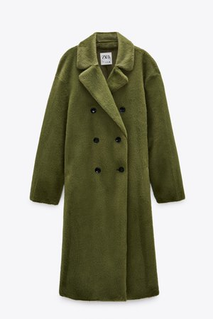 FAUX FUR WRAP COAT | ZARA United States