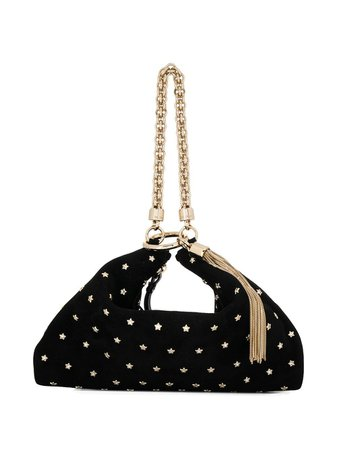 Black Jimmy Choo Callie Clutch | Farfetch.com