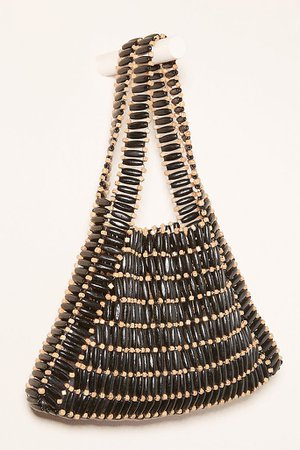 Bamboo Beaded Tote Bag | Anthropologie