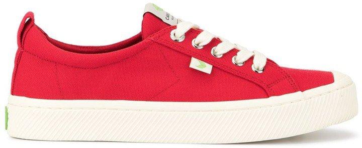 OCA Low Red Canvas Sneaker
