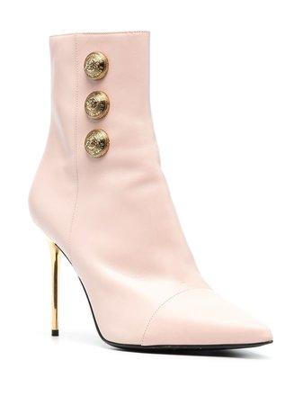 Balmain Roni Leather Ankle Boots - Farfetch