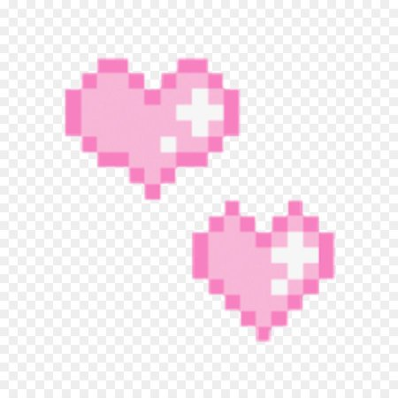 pixel hearts pink