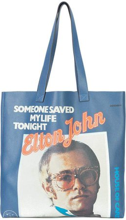 Elton John print tote