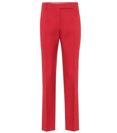 Valentino - Pantaloni a vita alta in crêpe   Mytheresa