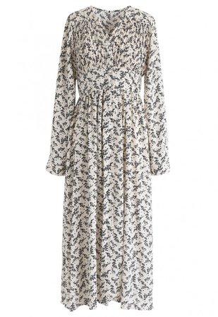 Floret Aplenty Chiffon Dress in White - NEW ARRIVALS - Retro, Indie and Unique Fashion