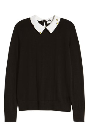 1901 Detachable Collar Sweater (Regular & Petite) | Nordstrom