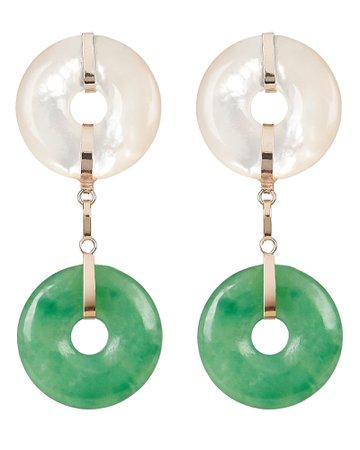 Loren Stewart Torus Pearl Drop Earrings   INTERMIX®