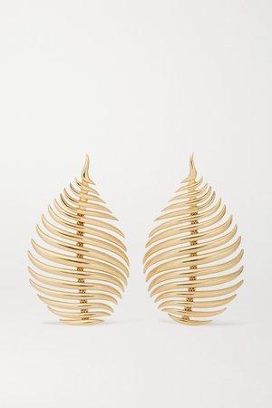 Gold Flame 18-karat gold earrings | Fernando Jorge | NET-A-PORTER