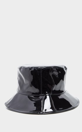Black Pu Vinyl Bucket Hat | Accessories | PrettyLittleThing USA