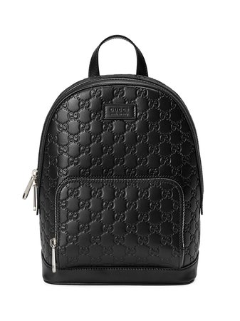 Black Gucci Gucci Signature leather backpack - Farfetch