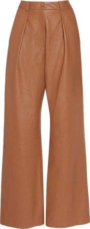 Michael Lo Sordo Leather Wide-Leg Pants